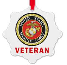 Marine Corps Veteran Christmas Ornament