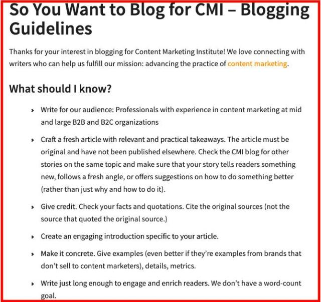 Guest Posting Page Example