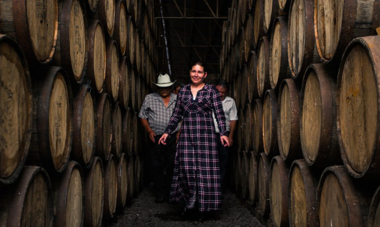 Miriam Lopez from 3 Amigos Tequila walking h
