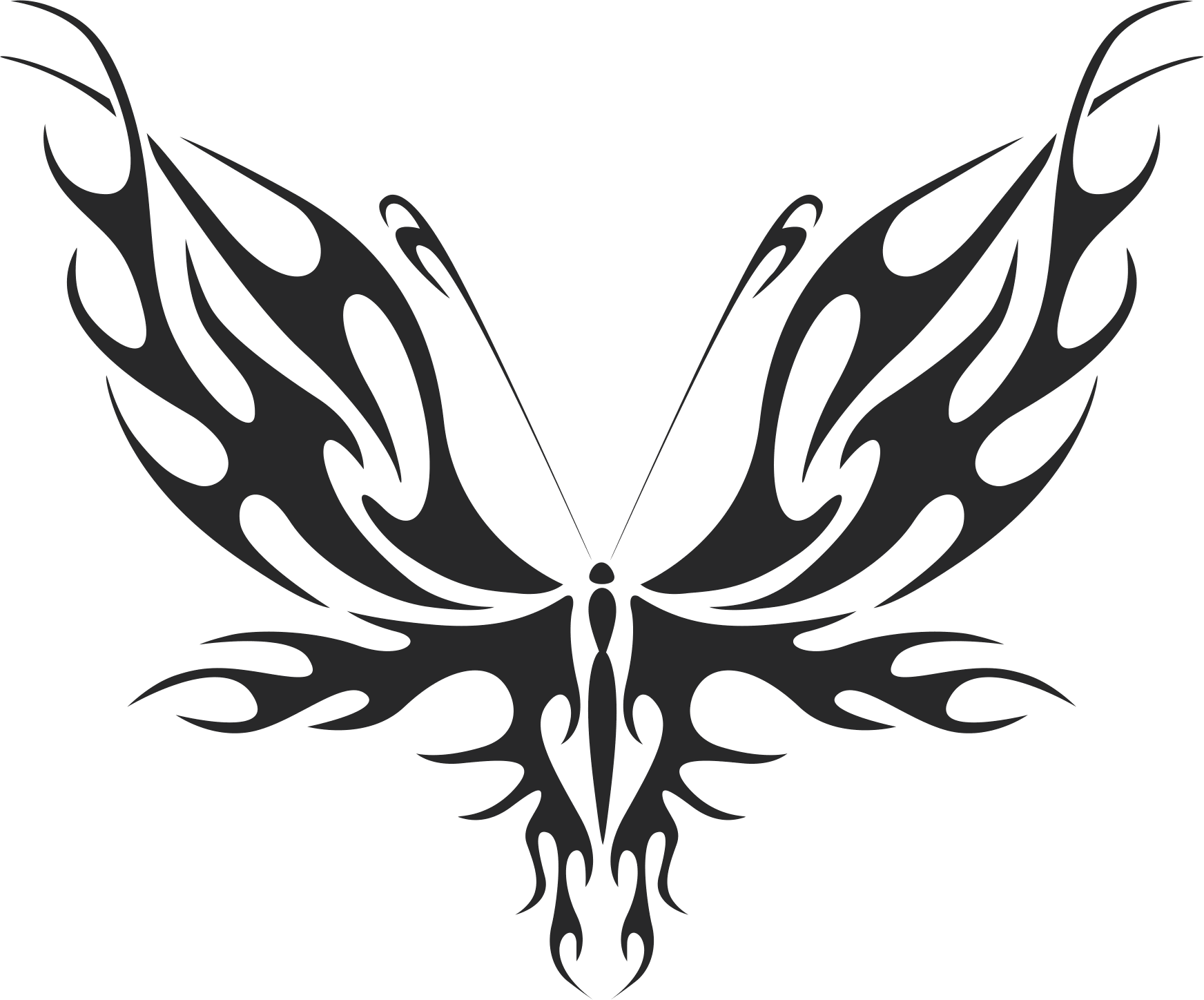 Tribal Butterfly Vector Art 31 Dxf File Free Download