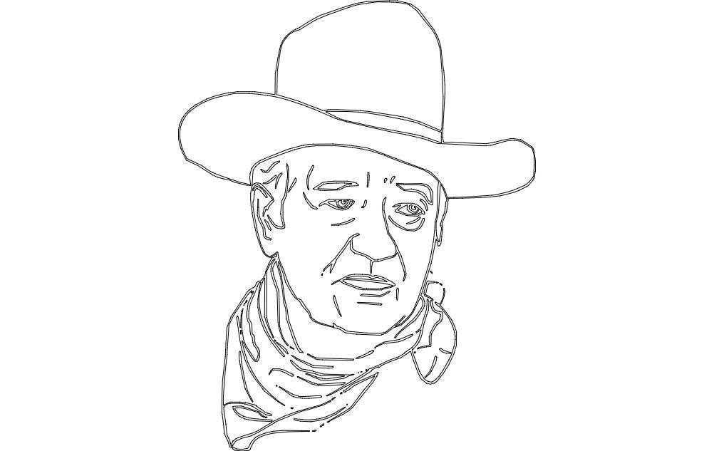 John Wayne 2 Dxf File Free Download 3axis Co