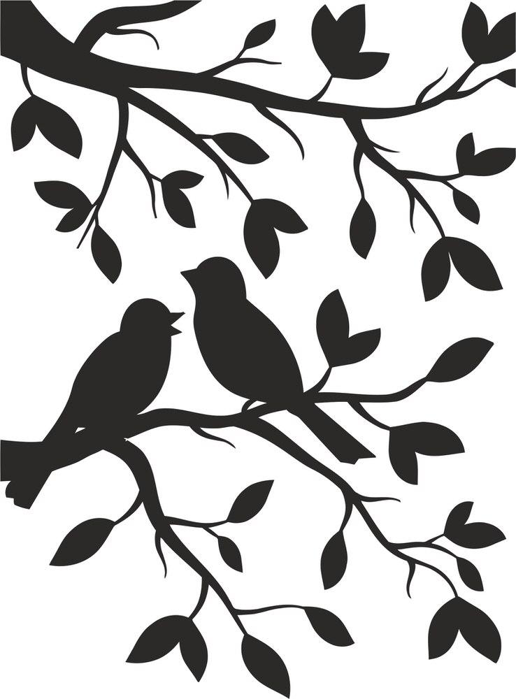 Black Bird Stickers And White