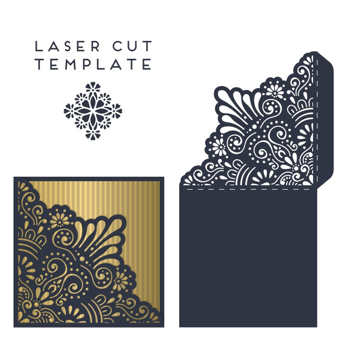 Give guests a dreamy sneak peek of your wedding d. Laser Cut Wedding Invitation Card Template Free Vector Cdr Download 3axis Co