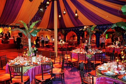 Purple and Orange Tent Liner