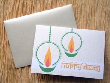 Diya Diwali Cards