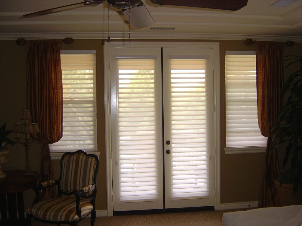 French Door Blinds Shades Patio Sliding Glass Window