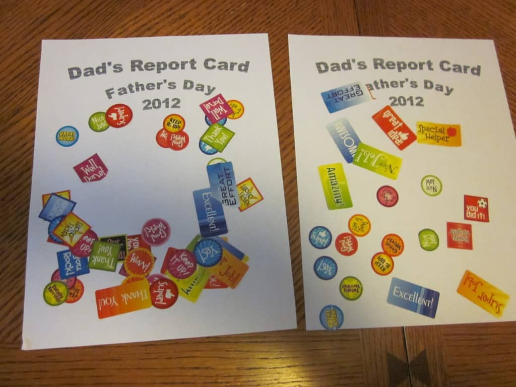 Father S Day Report Card 1 Craft Father S Day Crafts For Toddlers Amp Preschoolers 3 Boys And