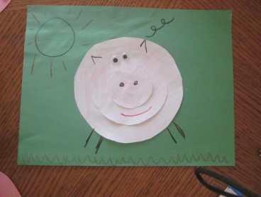 Circle Pig 5 1024x768 Three Little Pigs: Circle Pig {Preschool Shapes}