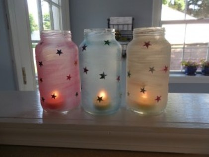 Patriotic July 4th Candles