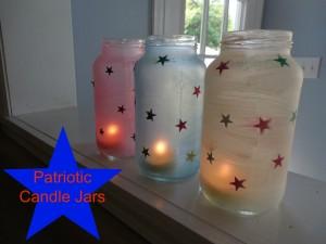 Patriotic Candle Jars
