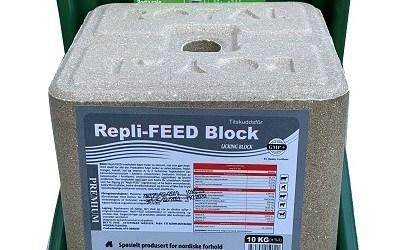 Repli-FEED Block, Norges ENESTE salt-slikkestein med levende gjær!
