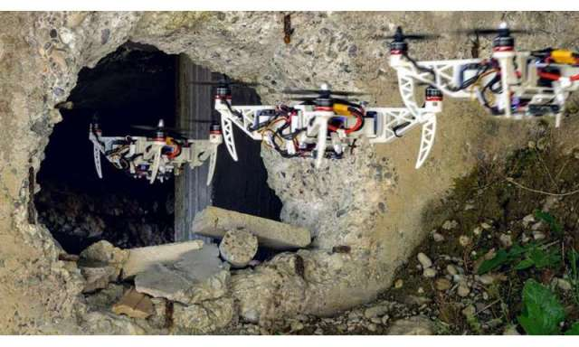 New foldable drone flies through narrow holes in rescue missions