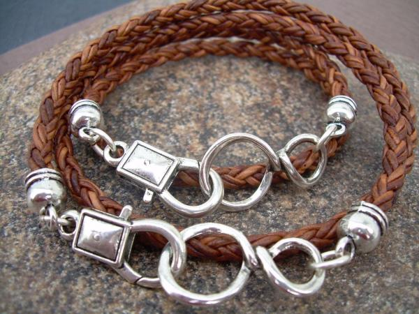 His And Hers Set Of Infinity Bracelets, Leather Bracelet ...