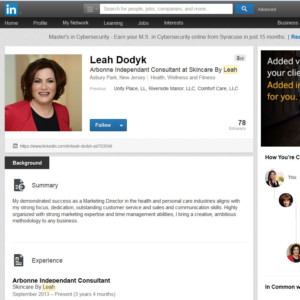 Link to Enhancing Your LinkedIn Profile page