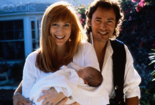 Bruce Springsteen with Wife Patti Scialfa and Son Evan James