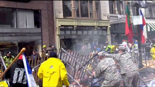 The Ruckers helping right after blast. Soldiers trained for Afghanistan...doing this work on American Soil.