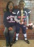 Hezekiah Darbon and his sister (left) after a football game and (right) last year during his sixth birthday celebrations