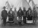 Geronimo (center, standing) at the St. Louis World's Fair in 1904. Photo- Library of Congress