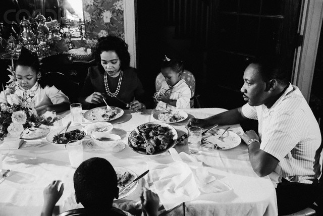 Martin Luther King Jr. Eating With His Family