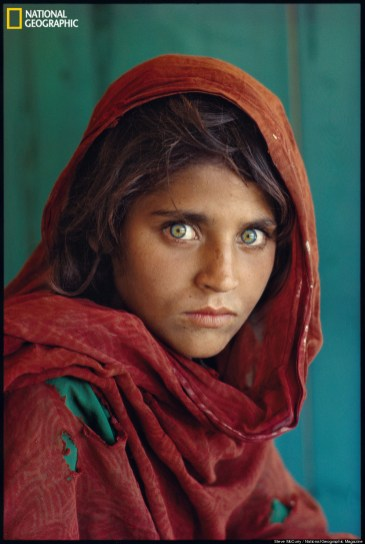Afghan girl in a Pakistan refugee camp, 1985