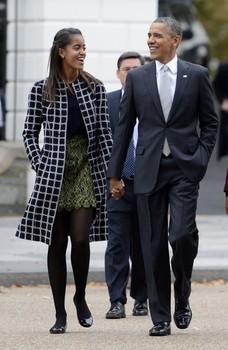 Obama And Family Go To Sunday Church