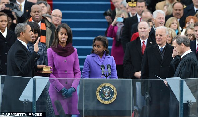 the first family as potus takes oath 2013