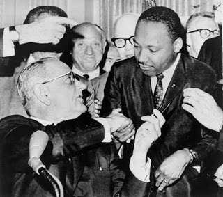 Dr King- LBJ Signing the Voting Rights Act 1965