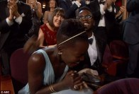 Lupita looked absolutely over the moon to have won the award