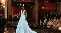 Lupita Nyong'o accepts award for Best Supporting Actress for 12 years a slave