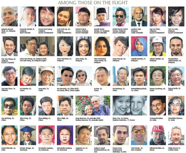 Passengers and Crew of Flight MH370