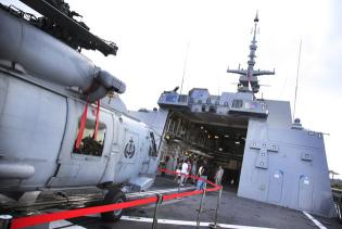 Ships and planes looking for MH370- A Sikorsky S-70B naval helicopter. Singapore has sent the RSS Steadfast Formidable-class Frigate with these helicopters to help with the search of the MH370.