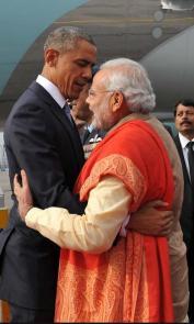 PM Narendra Modi gives Potus a big hug! Love!