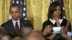 Barack cites Trayvon Martin at black history reception
