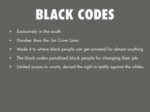 black codes 26