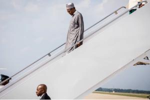Buhari arrives in America 22