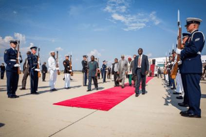 Buhari arrives in America 25