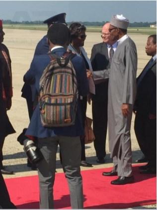 Buhari arrives in America 36