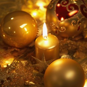 Candles and ornaments