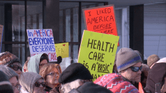 Hundreds protest in Grand Rapids against repeal of Obamacare