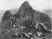 This is the first picture ever taken of the Inca structure, Machu Picchu, which was built in 1450. It was found in 1911, thousands of miles above sea level, after it had been abandoned for centuries