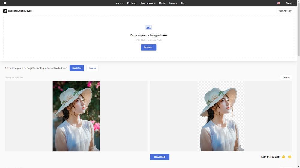 AI Background Remover | 近乎完美的高畫質 AI 去背線上工具