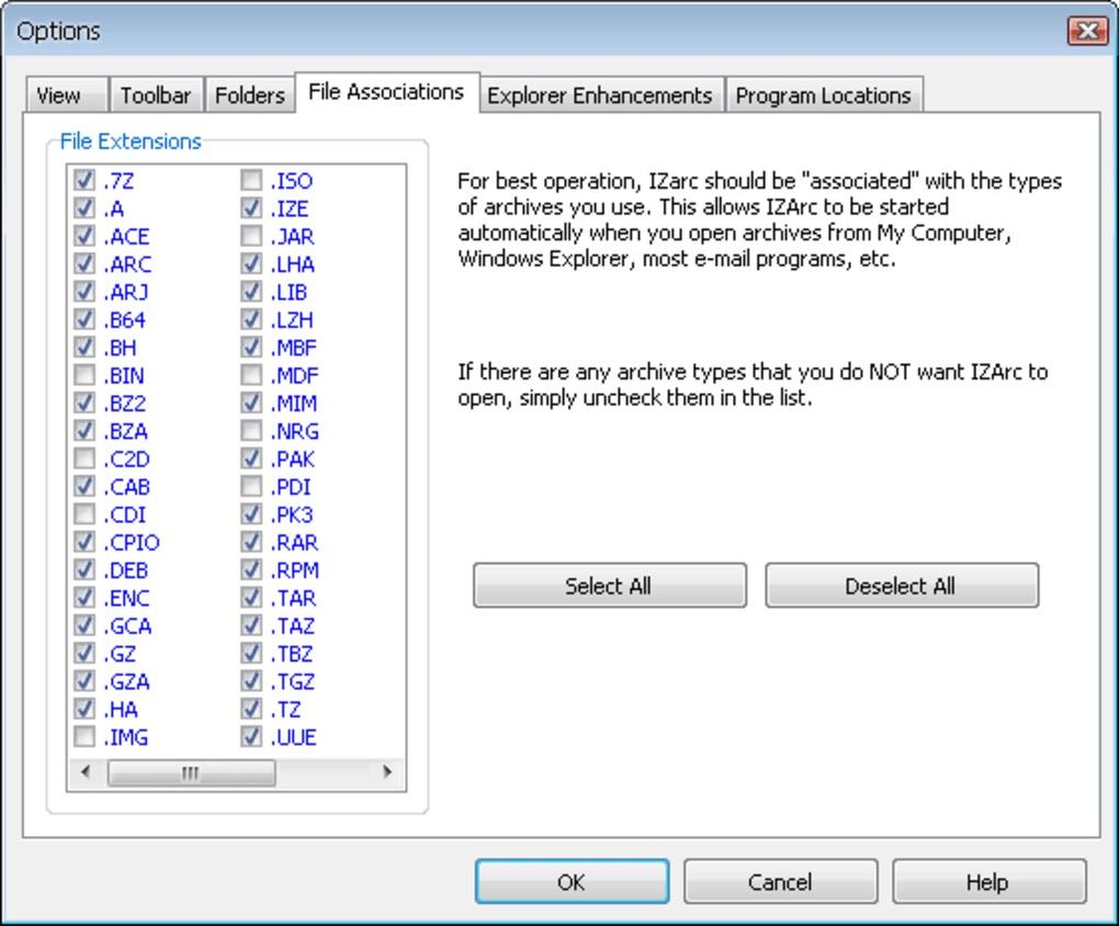 IZARC 支援超過40種格式的壓縮軟體
