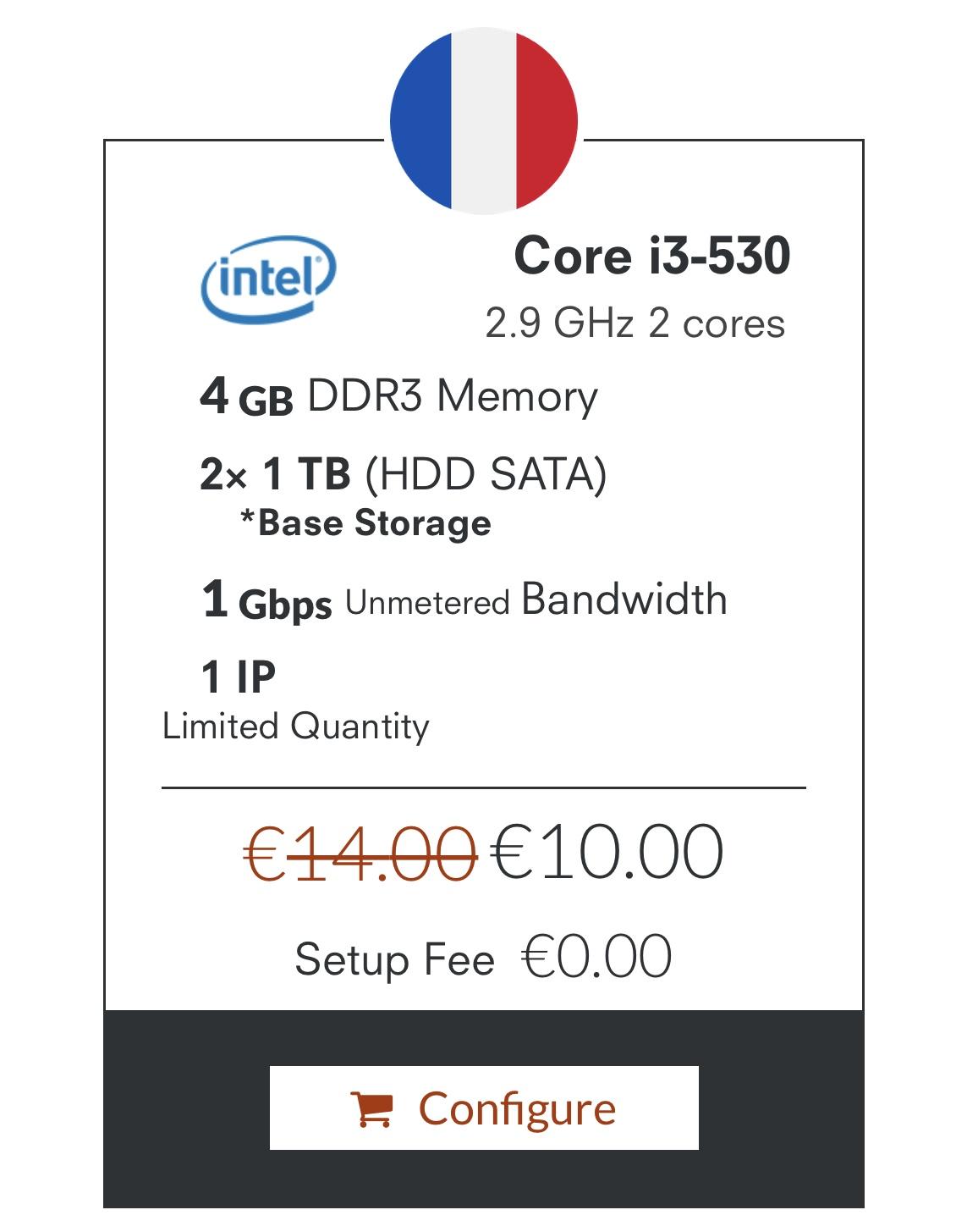 OneProvider 獨立伺服器10歐元促銷