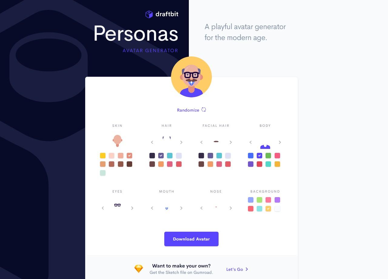 Personas 製作屬於你的個性化人物頭像