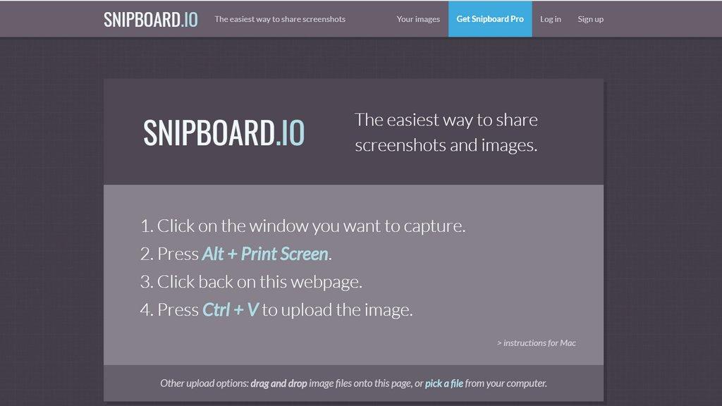 snipboard-超簡單的圖片上傳分享工具