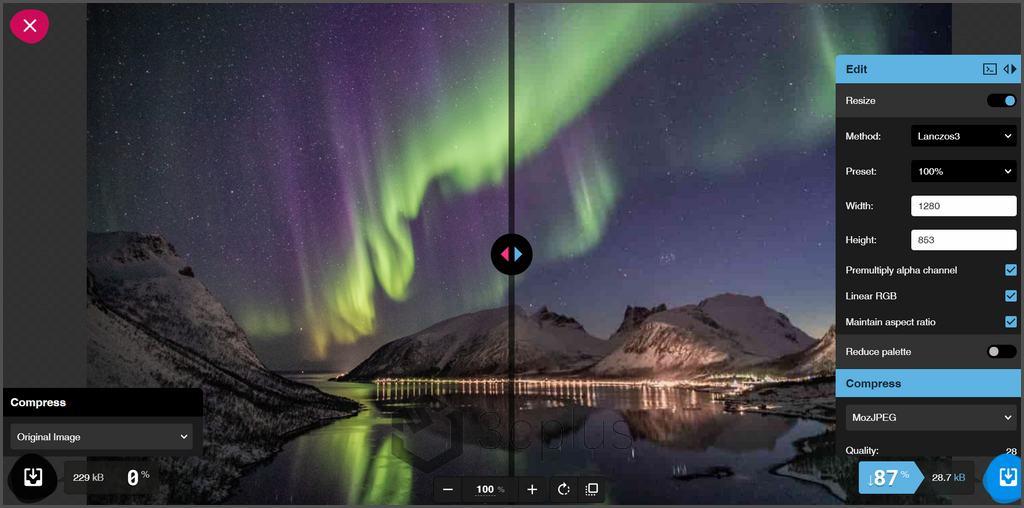 Squoosh 給你有效壓縮圖片檔案大小又能同時保有高品質畫面