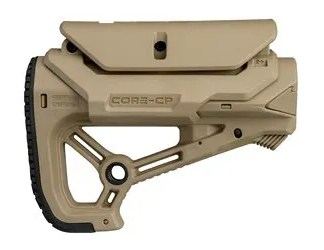 Fab Defense AR15-M4 FDE Compact Stock with Cheek Rest for Com-Mil-Spec Tubes