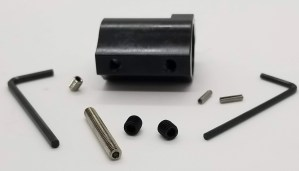 .750 adjustable gas block with roll pins