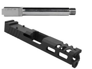 Custom Glock 19 Slide and Threaded Stainless Steel Barrel Combo