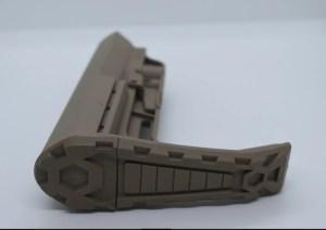 FDE minimalist AR15 buttstock